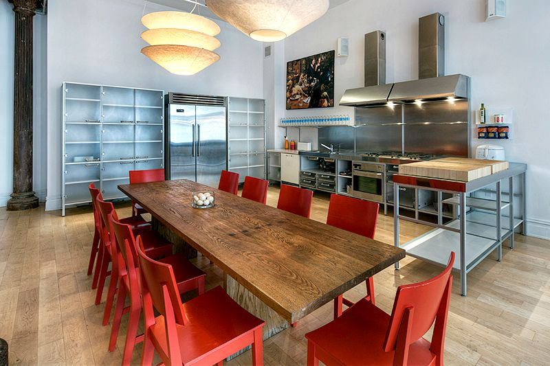 56 Crosby Street, kitchen, soho, loft
