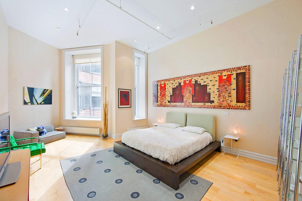 56 Mercer, master bedroom, soho loft,