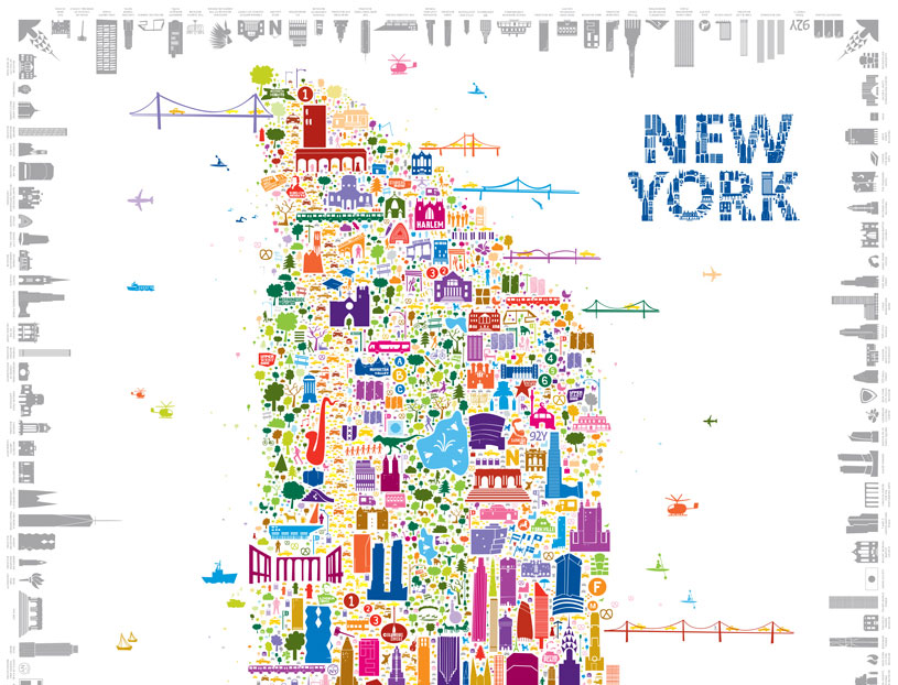 Alfalfa 39 S Whimsical Map Colorfully Details 400 New York Icons 6sqft