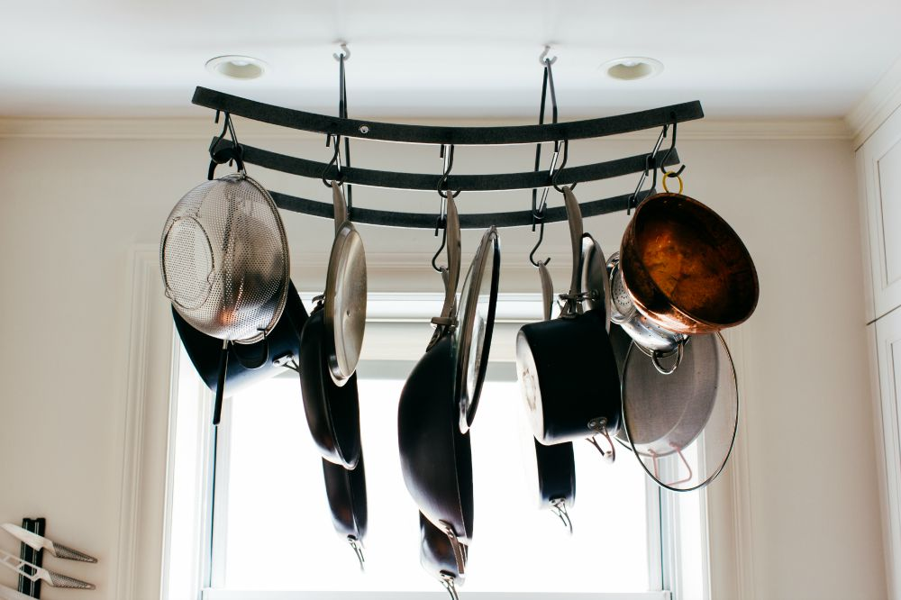 Carlos Alimurung, kitchen pot rack