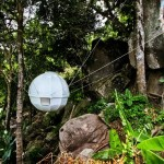 Cocoon Tree, suspended pod, treehouse,