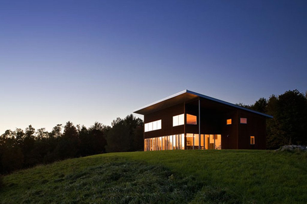 Gates Merkulova Architects, weathered skin, House on the Hil, NYC-based art collectors, old farmhouse, Columbia County, passive home, energy-efficient home
