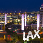 LAX at night