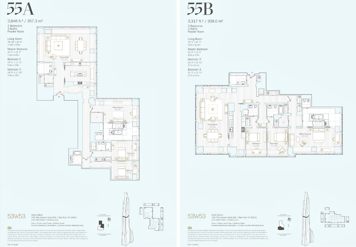 MoMA Tower floorplans, 53W53, 53 West 53rd Street, Jean Nouvel, NYC starchitecture
