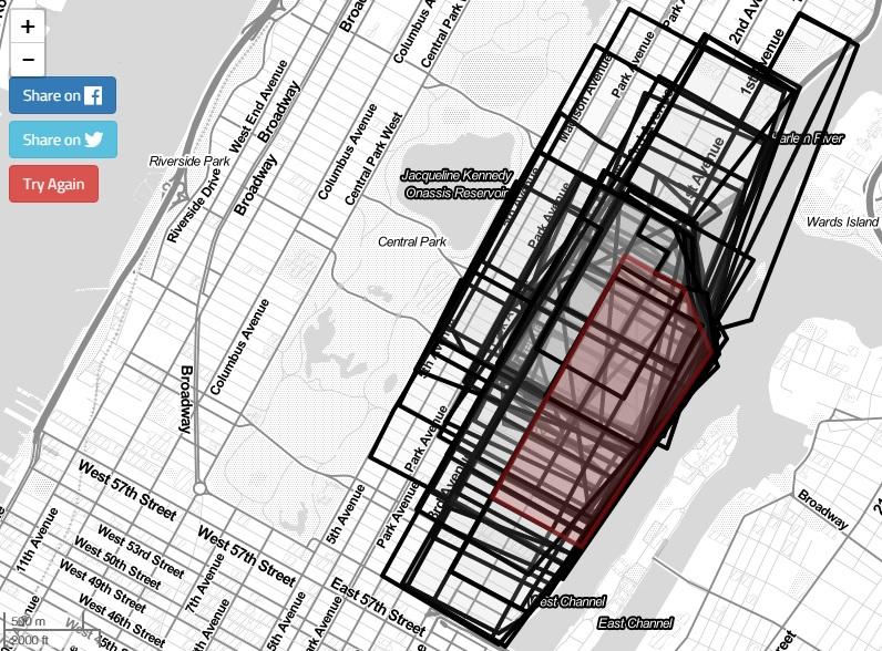 Neighborhood Border Map, NYC neighborhood boundaries, DNAinfo