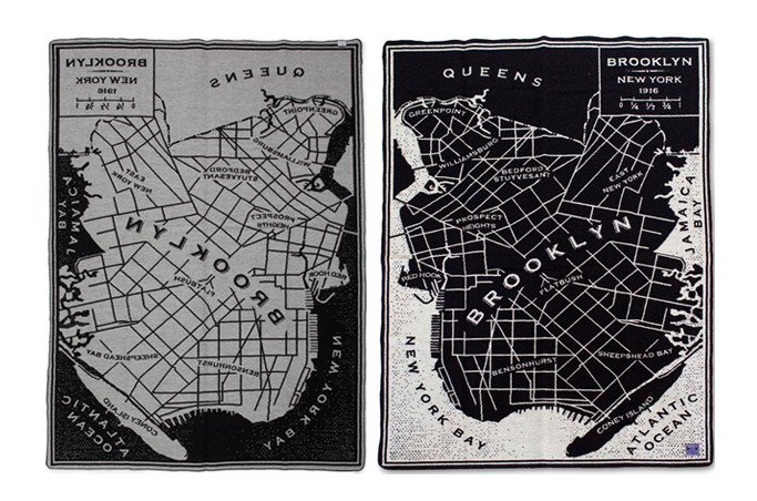 Stay Warm With This Cool Brooklyn Map Wool Blanket  6sqft