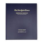 The New York Times Custom Birthday Book, gifts for new yorkers, new york themed gifts, new york gifts, new york anniversary gifts