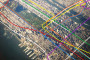 See NYC's Subway Lines Superimposed Over an Aerial Photo of the City