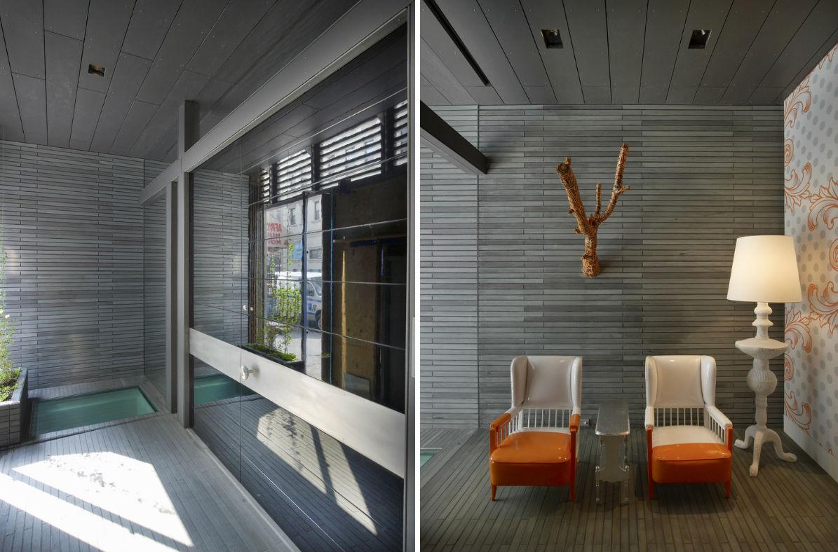 Warren Street, townhouse renovation, tribeca, entryway
