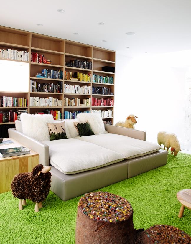 Ghislaine Viñas Interior Design, warren street townhouse, sheep