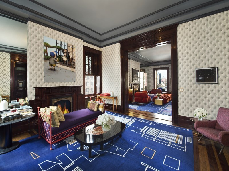 1 West 72nd Street, The Dakota, living room,