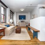 10 Leonard Street, living room, loft, co-op