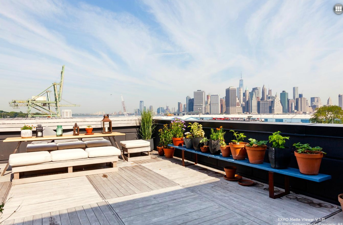 113A Columbia Street, roof deck