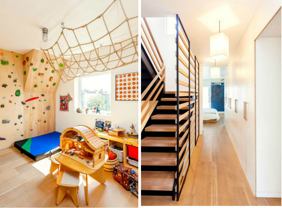 A Totally Modern Brooklyn Townhouse With A Rock Climbing