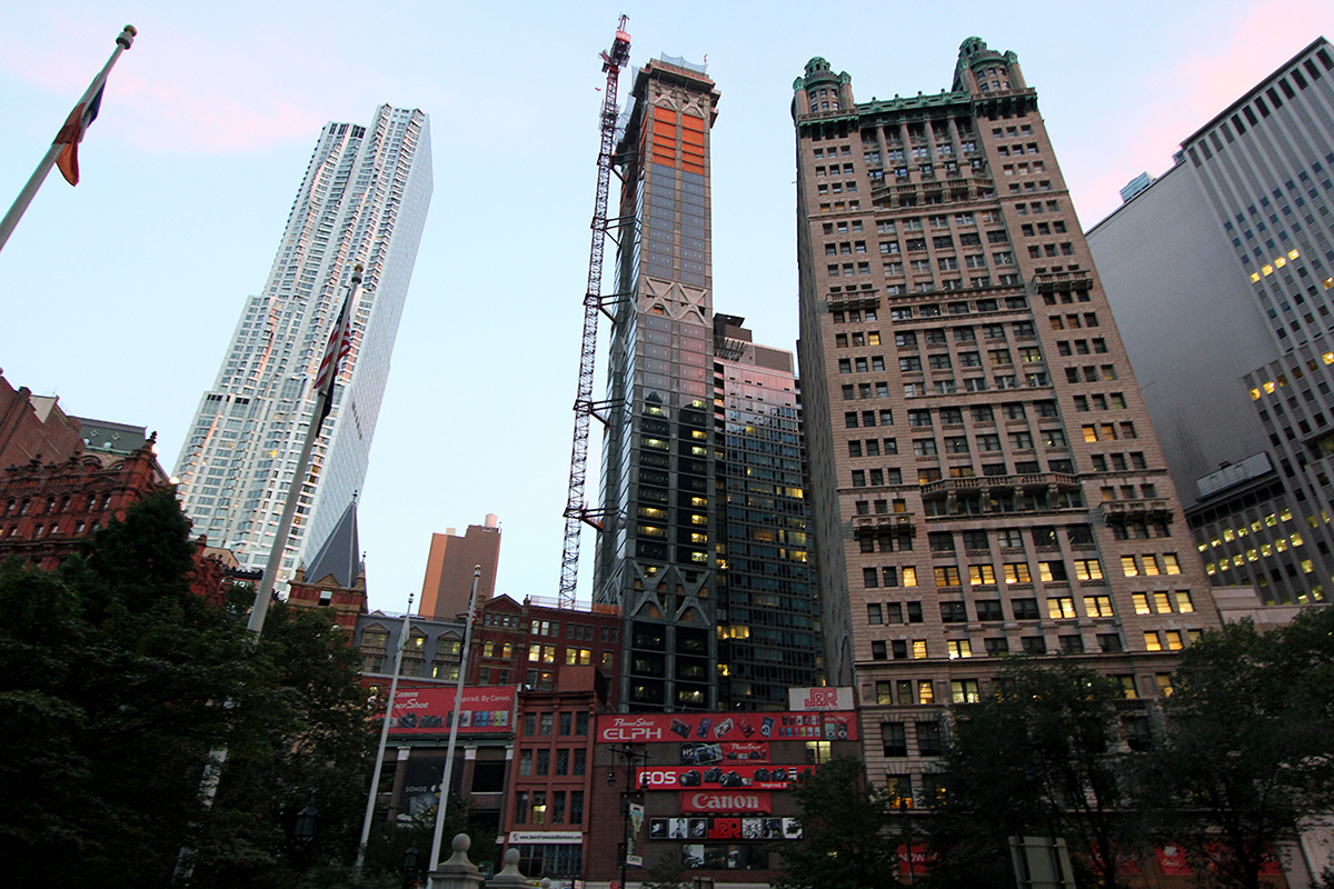Beekman Residences, Gerner Kronick Valcarcel, Manhattan towers, NYC Developments, Fidi condos, GKV Architects, Newspaper Row, Skyscrapers