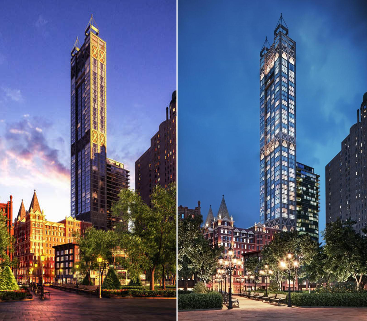 Beekman Residences, Gerner Kronick Valcarcel, Manhattan towers, NYC Developments, Fidi condos, GKV Architects, Newspaper Row, Skyscrapers