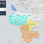 The True Size Of, interactive world maps, realistic map, non-distorted map