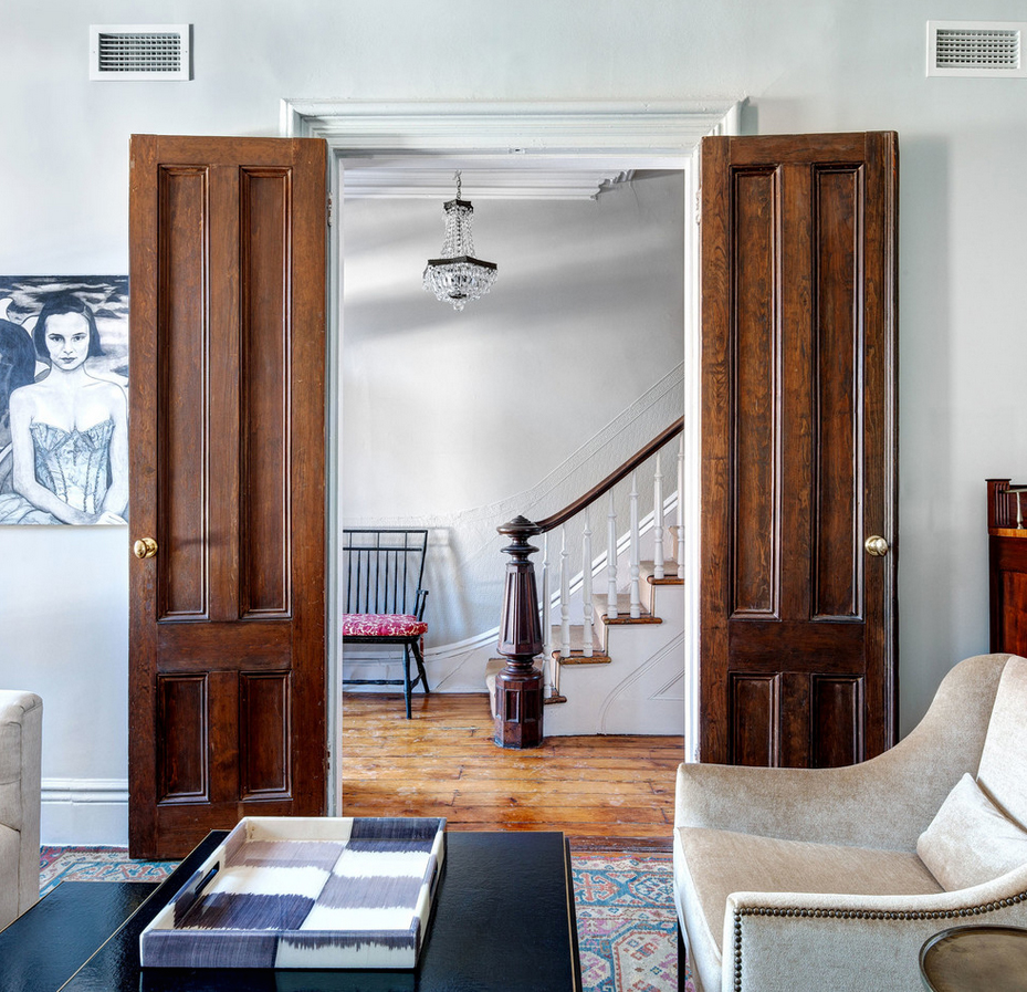 brooklyn brownstone, mcgrath interiors, wood doors