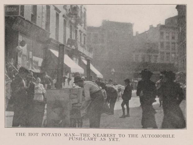 pushcarts, historic, the hot potato man