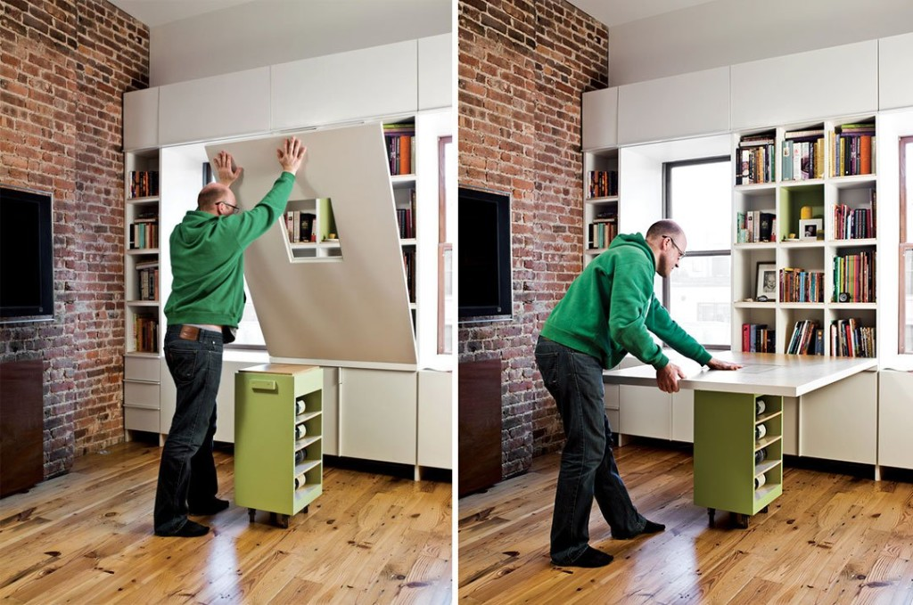 10 Ways to Make the Best of a Studio, transforming furniture,