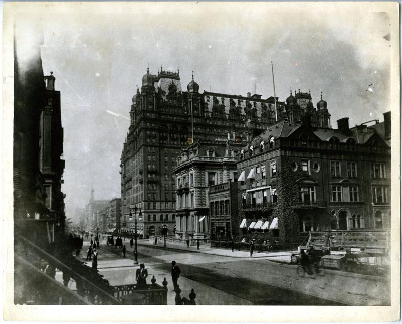 waldorf astoria, new york history, spite house, spite fence