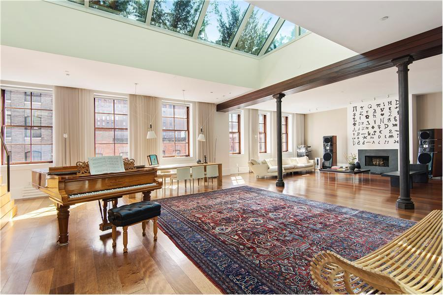 20m tribeca penthouse has a 25 foot skylight a heavenly for Tribeca loft for sale