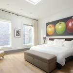 140 Franklin Street, master bedroom, penthouse, tribeca