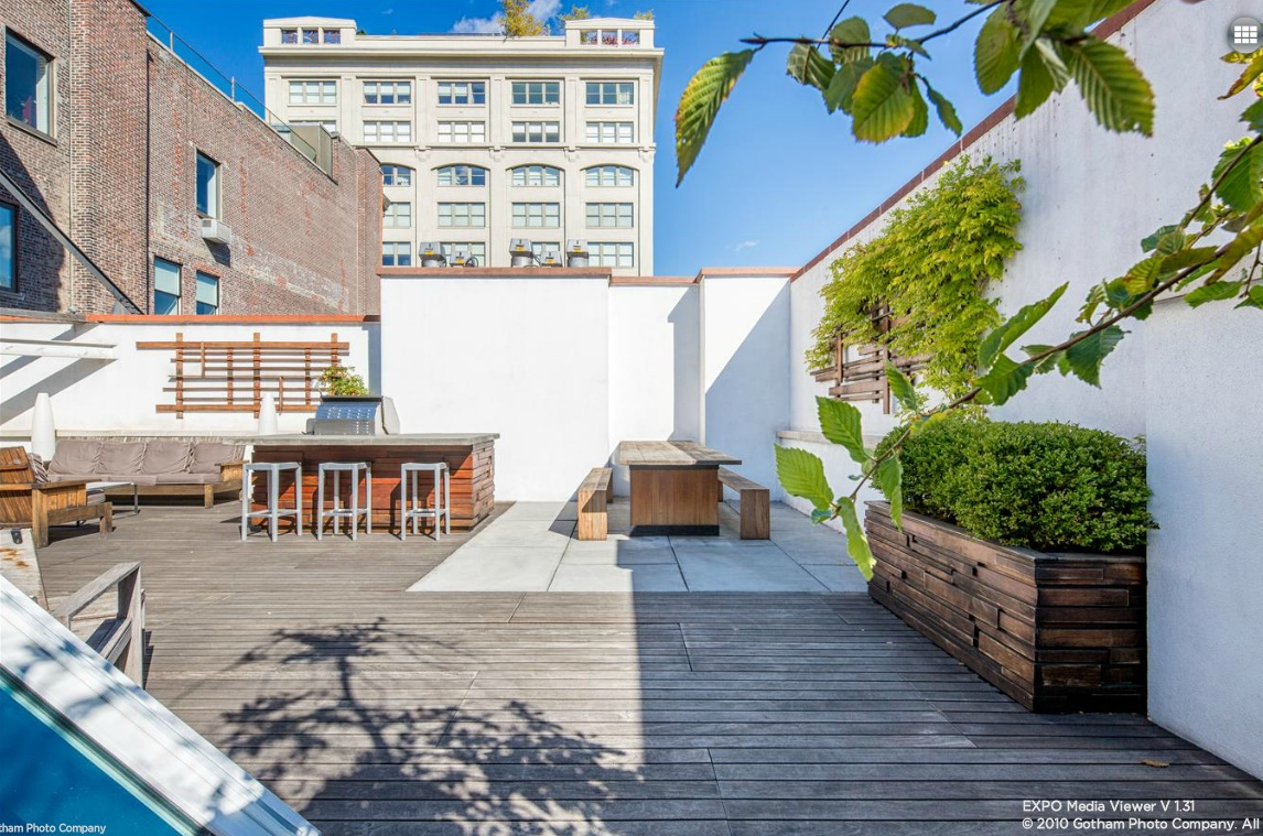 140 Franklin Street, terrace, roof deck, penthouse