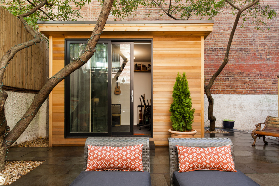 173 Hicks Street, studio, backyard, garden