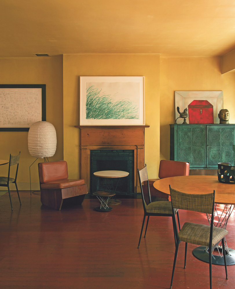 Francesco Clemente, ARTISTS LIVING WITH ART, Cy Twombly, Jean-Michel Basquiat,  Frank Lloyd Wright,  Isamu Noguchi