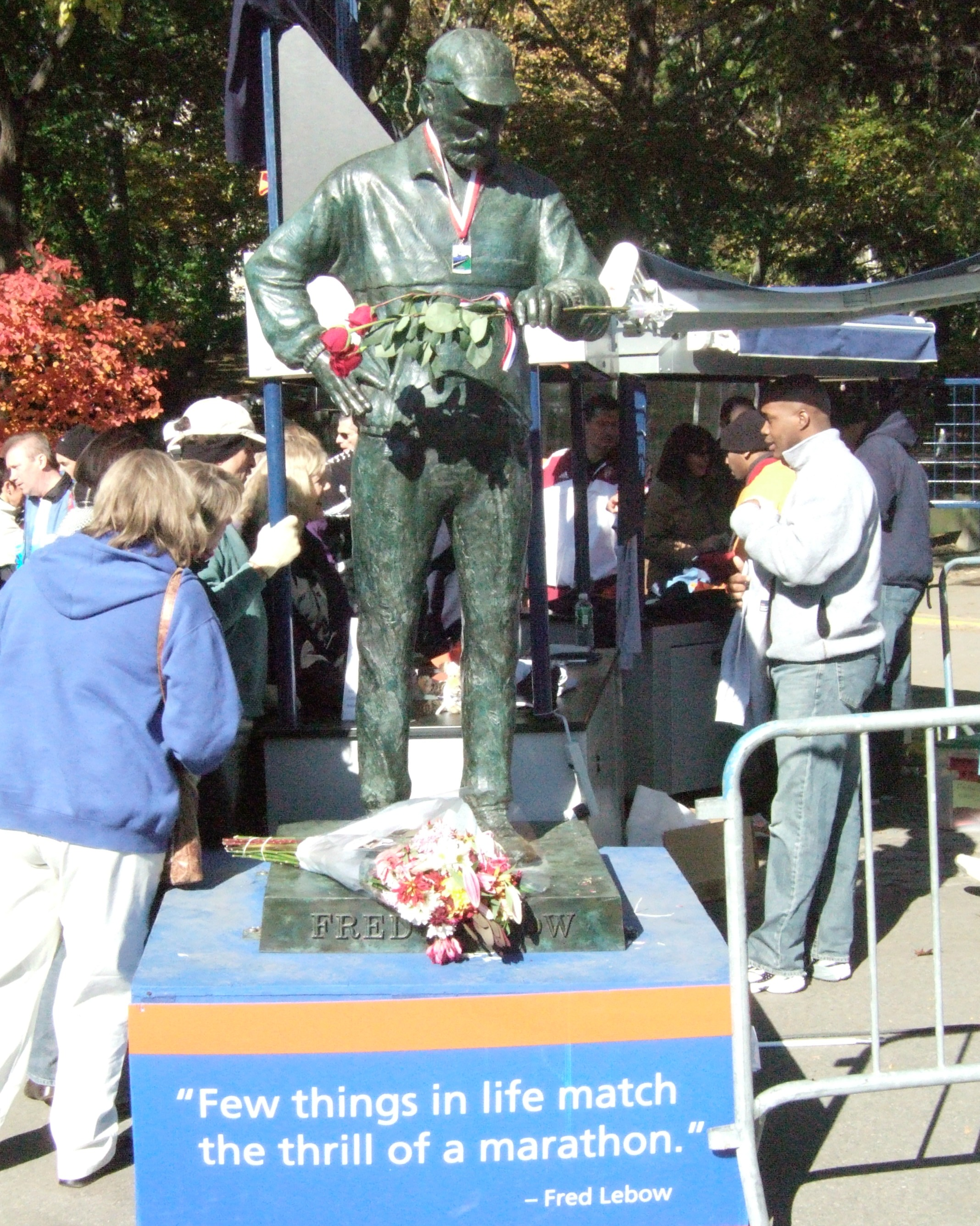 Fred Lebow Sculpture, NYC Marathon