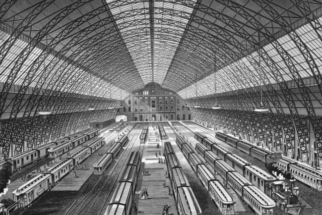 Grand Central Depot, John B. Snook, Cornelius Vanderbilt, historic photos of Grand Central