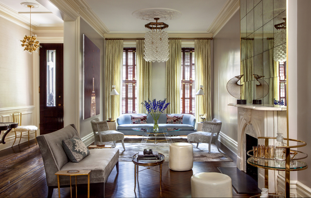 cool townhouse living room design | Upper East Side Townhouse by Blair Harris Boasts Opulant ...