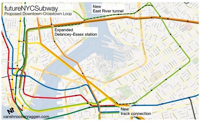 Manhattan G train, NYC subway maps