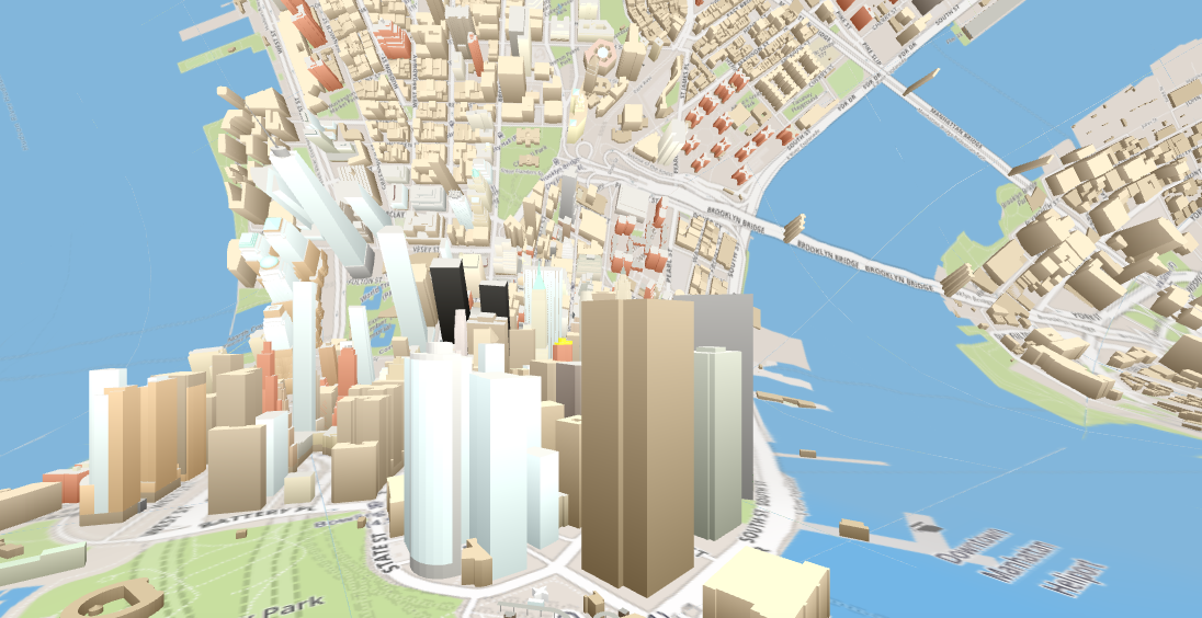 Osm buildings inception map horizonless map nyc 3d map
