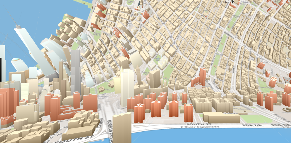 OSM Buildings, Inception Map, Horizonless Map, NYC 3D map