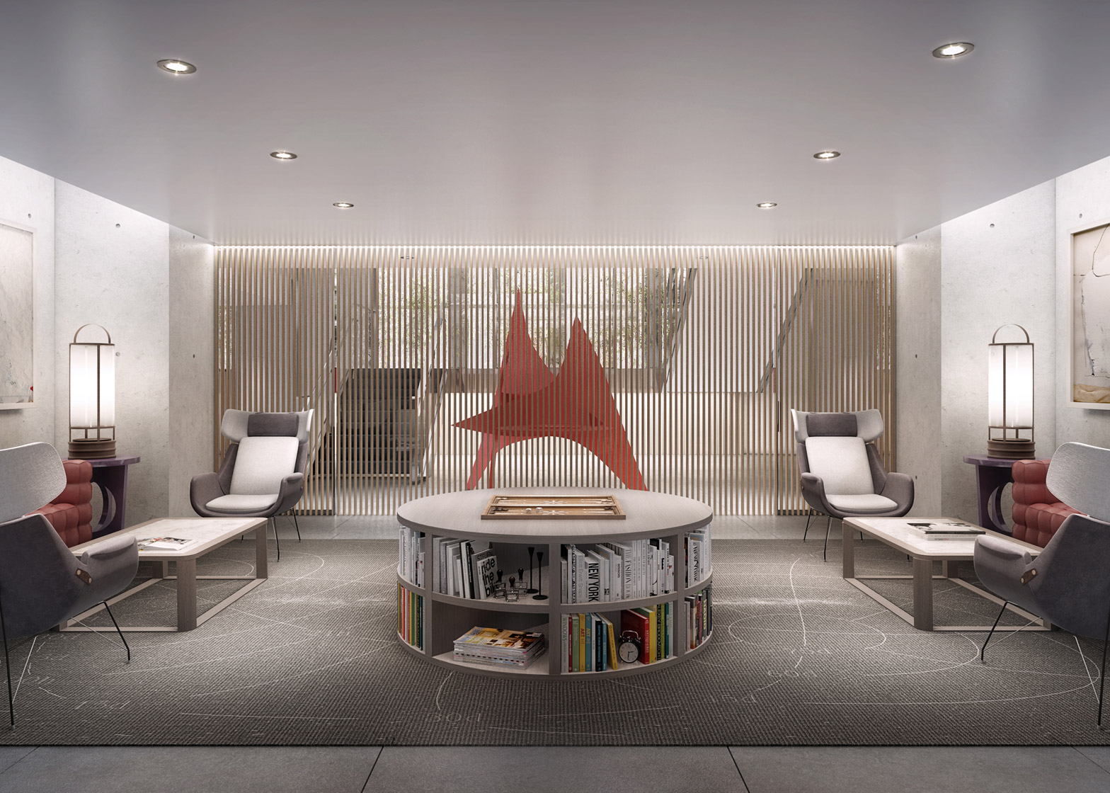 Revealed interior renderings of norman foster 39 s skinny for 53rd street salon