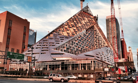 VIA West 57, 625 West 57th Street, Bjarke Ingels, Durst Organization, the pyramid building, NYC starchitecture