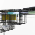 Ying Chang, Modular Mesh Desk, Grid System, Royal College of Art, plug-in furniture, multifunctional desk, 2 dimensional grid system, Josef Müller-Brockmann, Wim Crouwel
