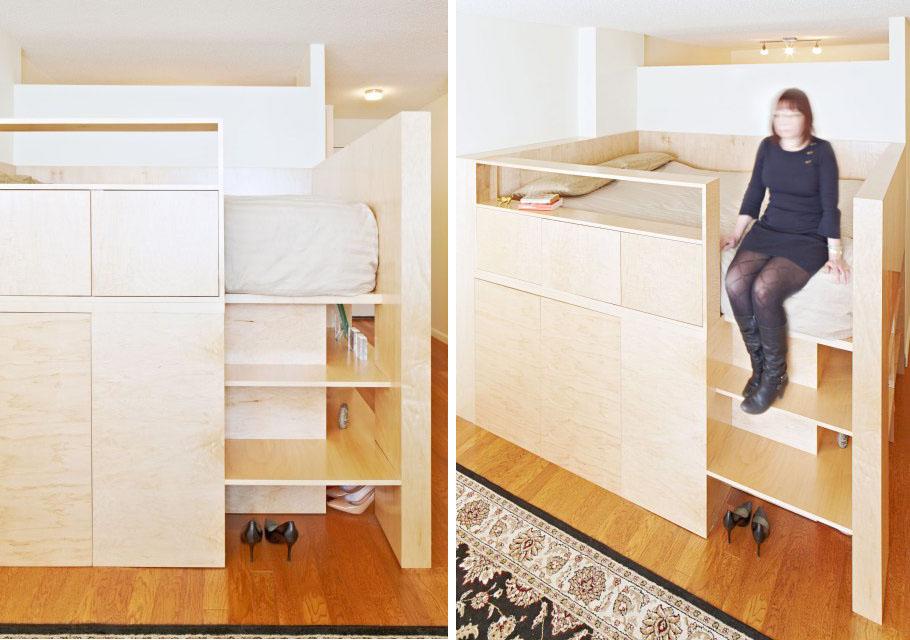 Clever Room Divider By Jordan Parnass Triples As Queen