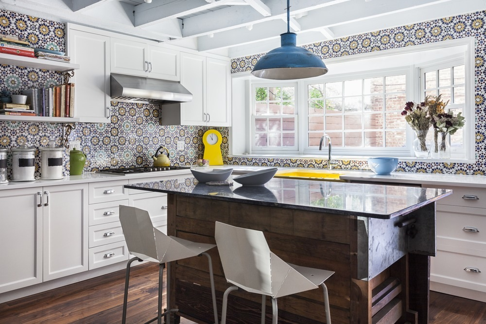 Jen morris infuses bold design accents into this vibrant fort greene brownstone interior 6sqft Kitchen design for village