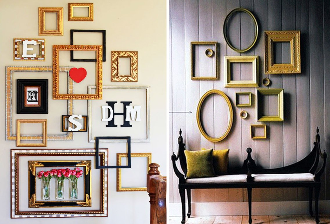 empty frames as wall decor