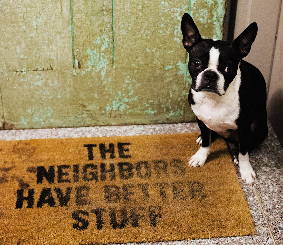 the neighbors have better stuff welcome mat