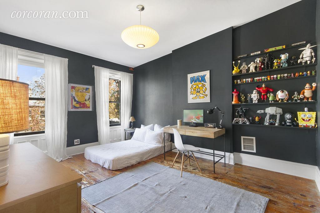 127 Park Place, bedroom, park slope, townhouse, three bedrooms, guest room