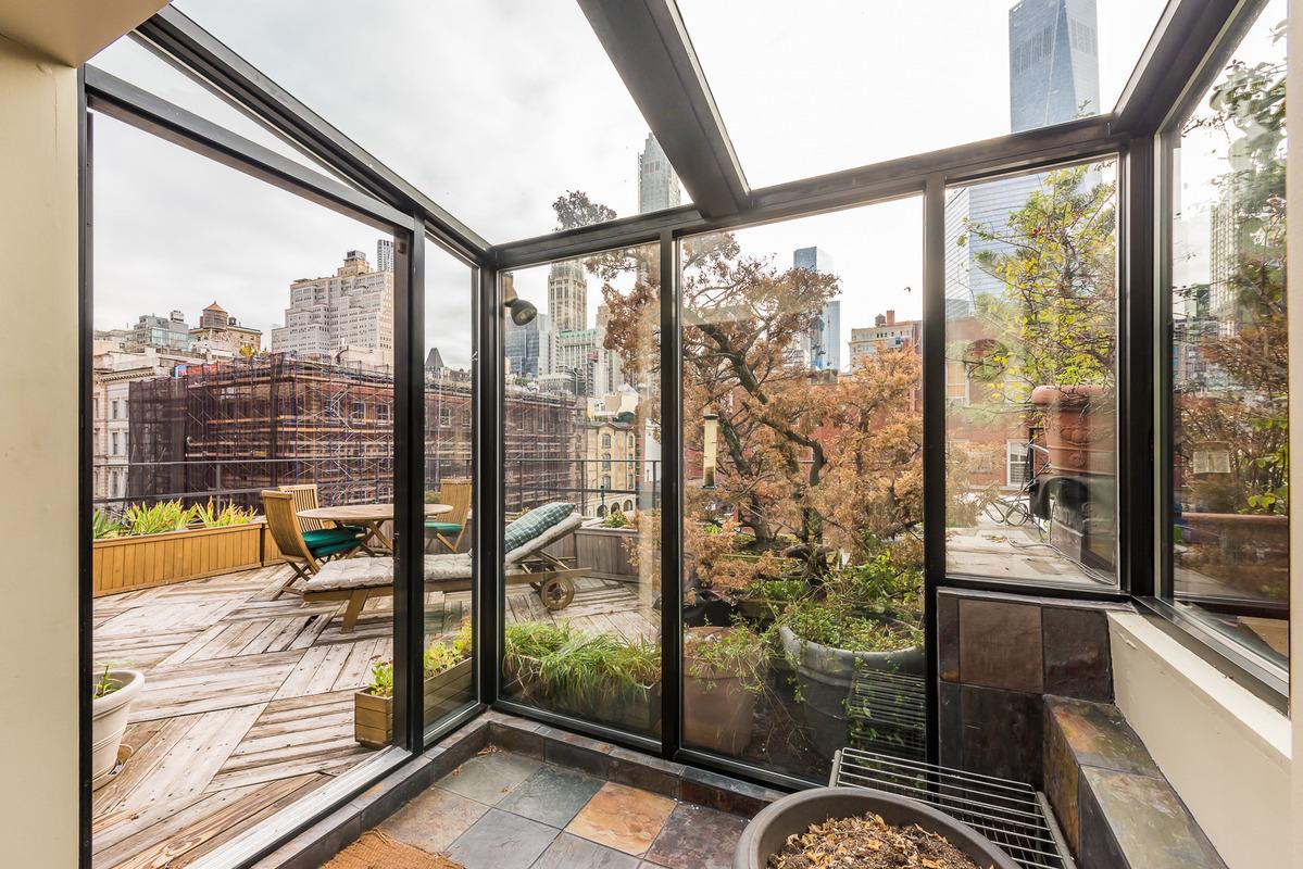 155 Duane Street, penthouse, roof garden, deck, roof terrace