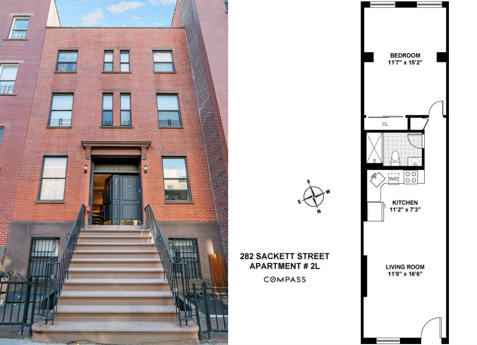 282 Sackett Street, Carroll Gardens, floorplan
