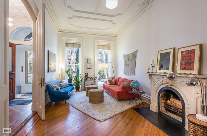 check out the retro kitchen in this otherwise historic italianate brooklyn brownstone