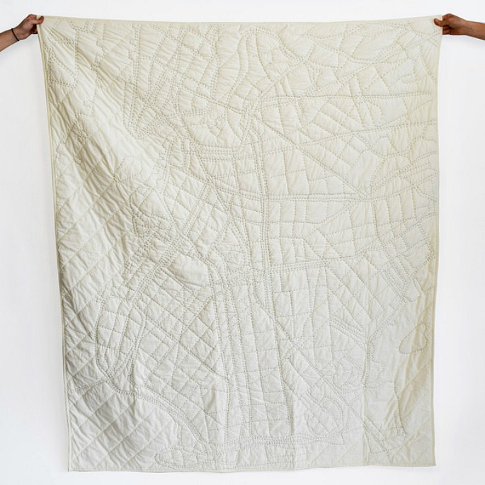 Haptic Labs, brooklyn Map quilt, city map blanket