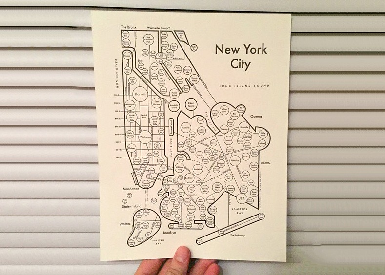 Archie Archambault, Map from the Mind, vintage letterpress, city maps