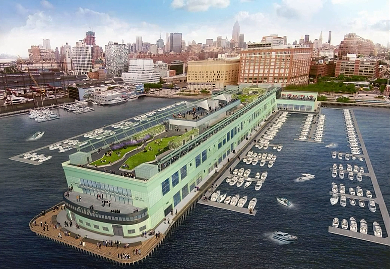 Hudson River waterfront, Manhattan development, waterfront projects, NYC waterfront, Google hadquarters, High Line, NYC restaurants
